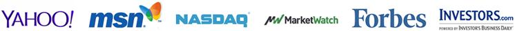 Yahoo, MSN, NASDAQ, MarketWatch, Forbes, Investors.com - Financial Market Logos