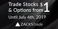 Trade stocks & options on Zacks Trade for only $1 until July 4th 2019 - Click here to start trading!
