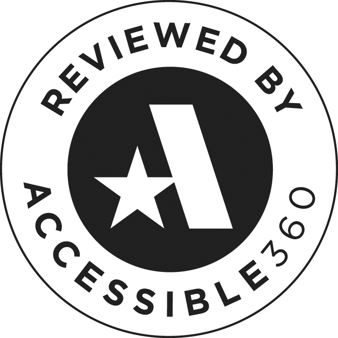Reviewed by Accessiable 360 - Web Accessibility Review Badge